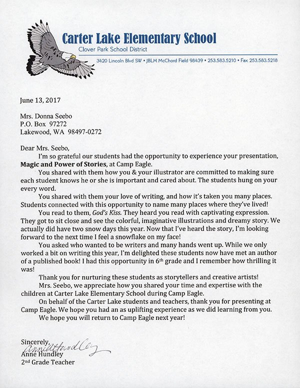 Camp Eagle Letter of Appreciation